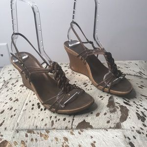 Kenneth Cole Reaction Go Cedar Wedge Sandals 8.5